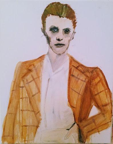 Beverley Mason Artist Original Painting of David Bowie 1