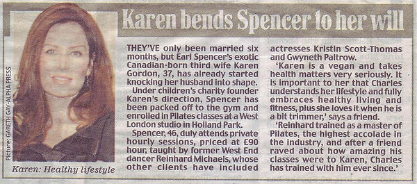 Daily Mirror article on Holland Park Pilates