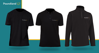 Poundland Uniform by Xcel Bespoke Global Marketing
