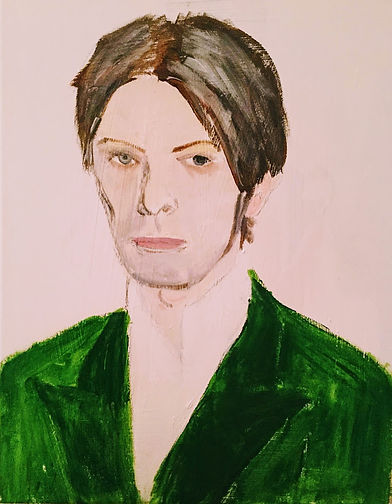 Beverley Mason Artist Original Painting of David Bowie 2