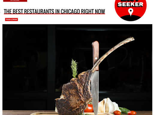 THE BEST RESTAURANTS IN CHICAGO RIGHT NOW