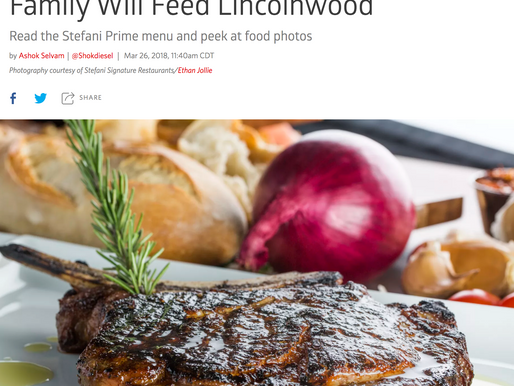 Feast All Eyes on What Phil Stefani and Family Will Feed Lincolnwood