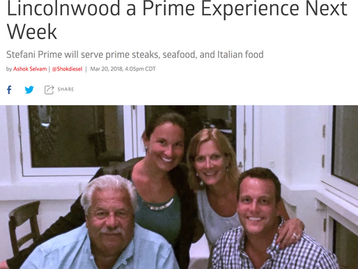 Phil Stefani and Family Will Give Lincolnwood a Prime Experience Next Week