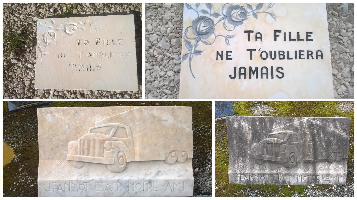 Restauration plaques en marbre
