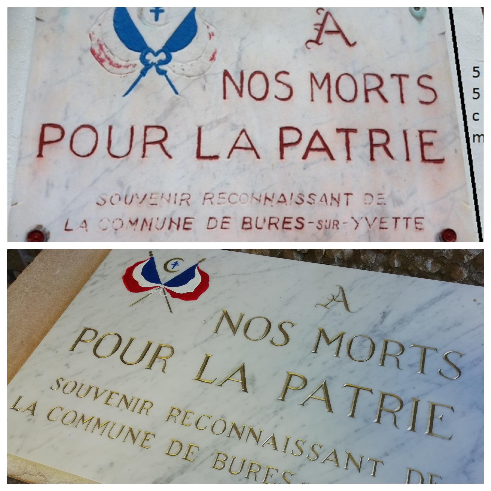Plaque commémorative en marbre