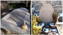 Stèle en pierre calcaire