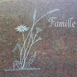 Bouquet champêtre + nom de famille