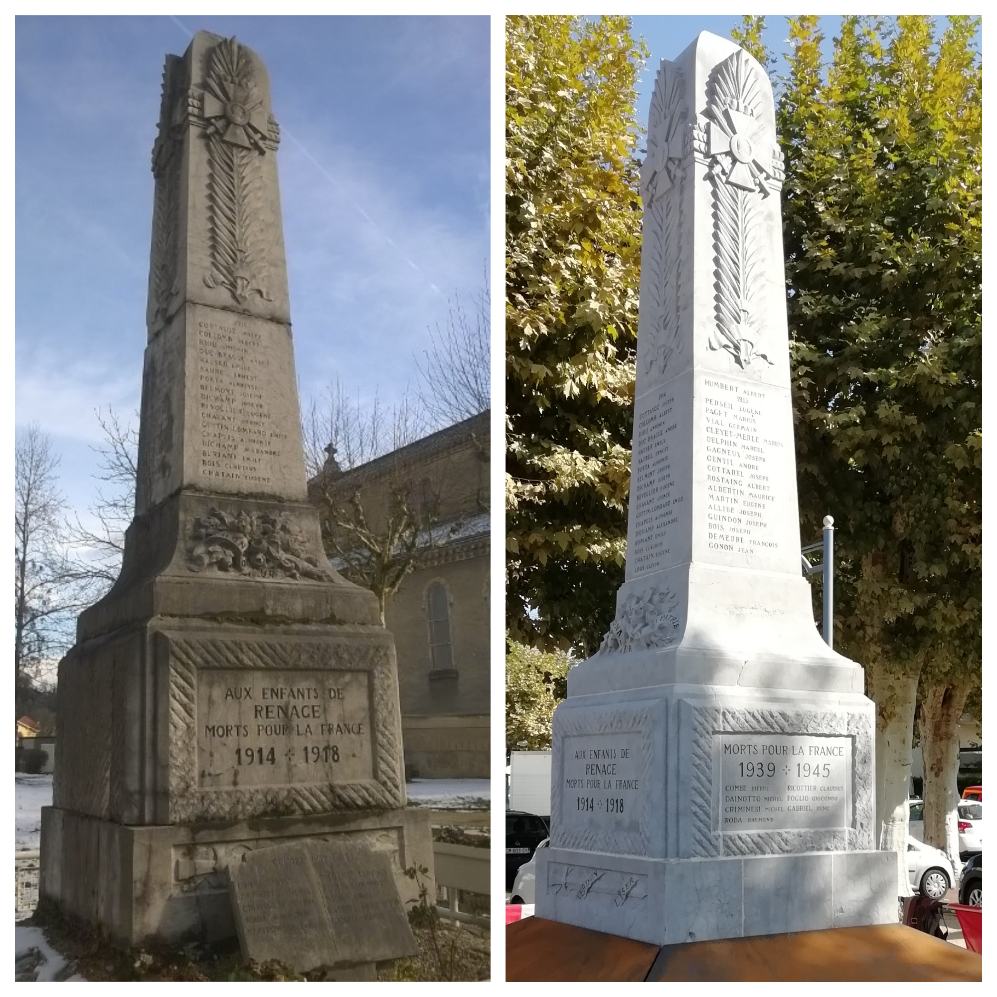 Restauration monument aux morts