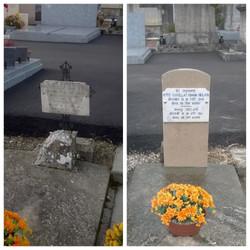 Restauration ancienne sépulture