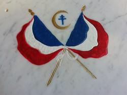 Gravure drapeaux