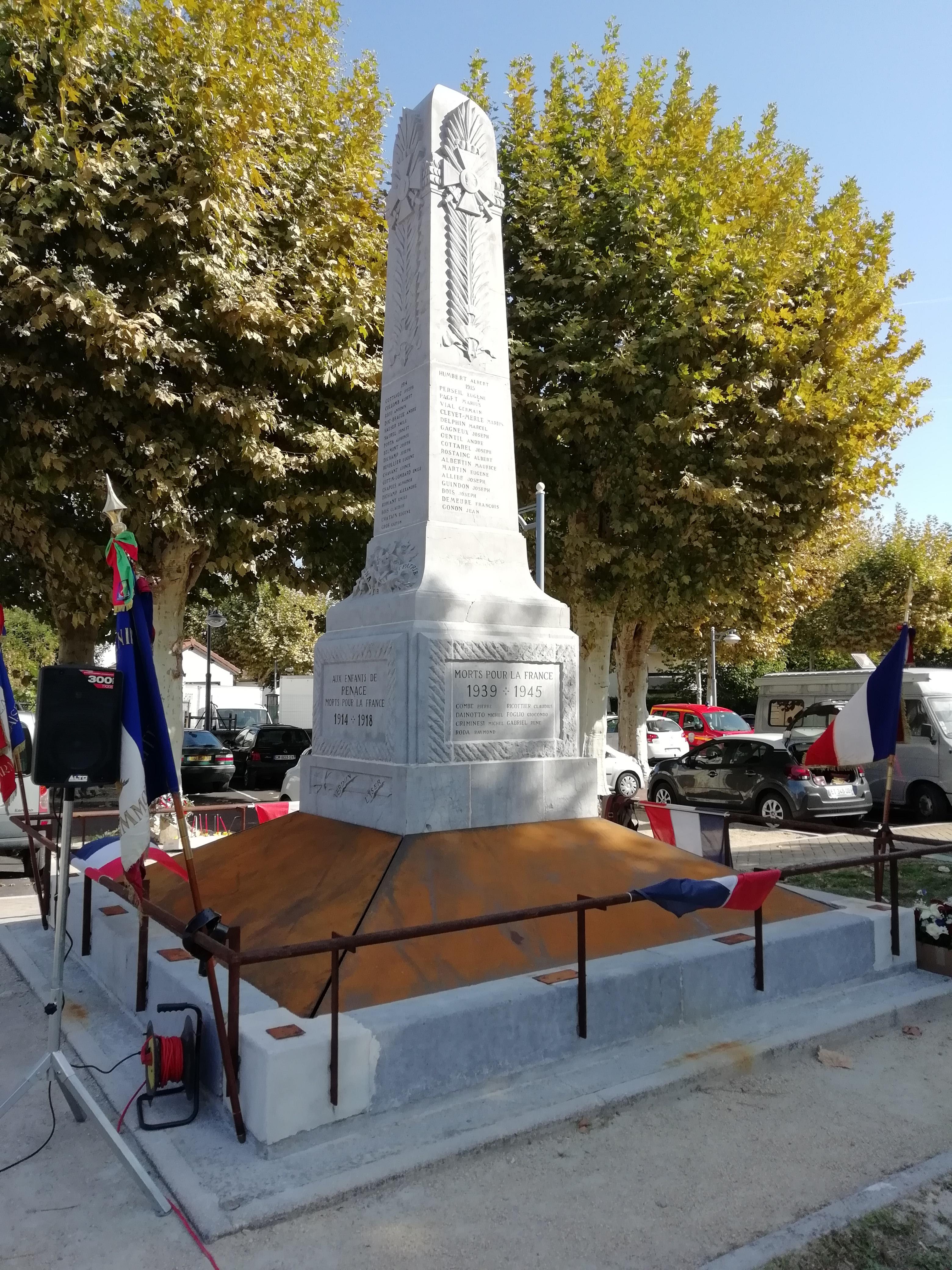 Monument après restauration