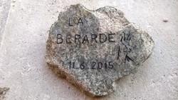 Gravure sur granite brut