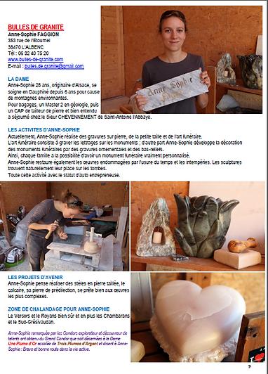 """Article paru dans """"El condor, petit journal illustré du Vercors et Royans"""" N°072, Octobre 2015"""