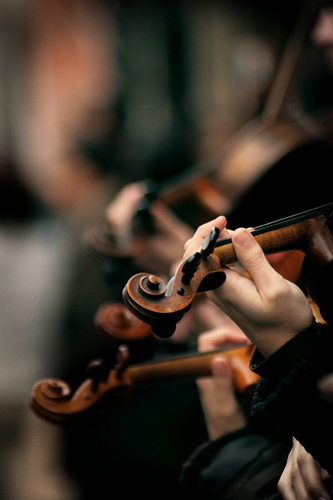 Violin playing image