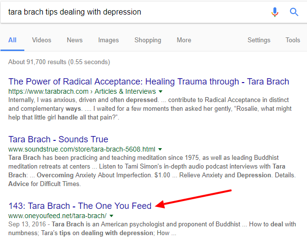 the-one-you-feed-podcast-tara-brach-google-results