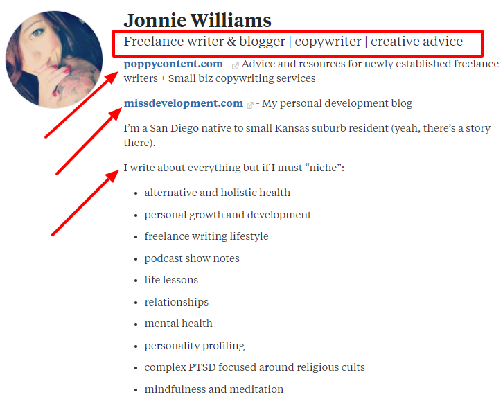Optimized Quora profile - Jonnie Williams