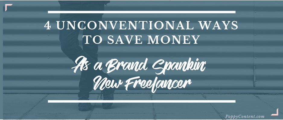 Save money as a freelance writer