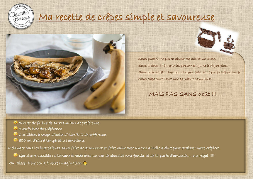 Ma recette de crêpes simple et savoureus
