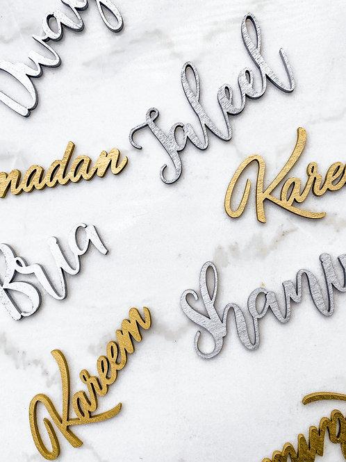Custom Lasercut Names
