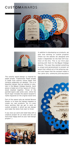 Custom Lasercut Awards for OCCA  - Wood and Paint