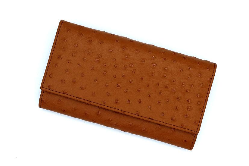 Leather long wallet Vera Pelle Ostrich