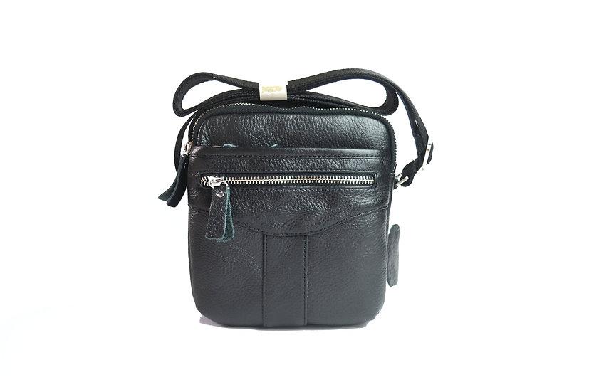 leather travel cross body bag slim bag