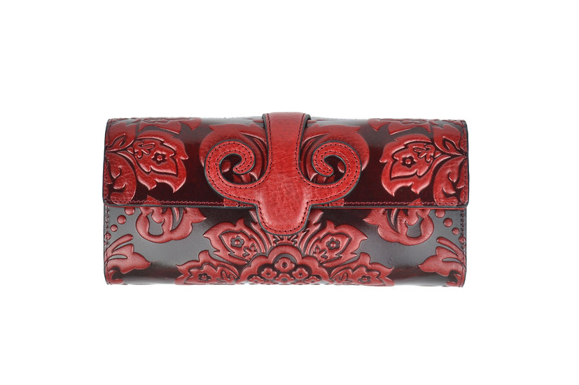 Vera Pelle Cow Leather Wallet Red