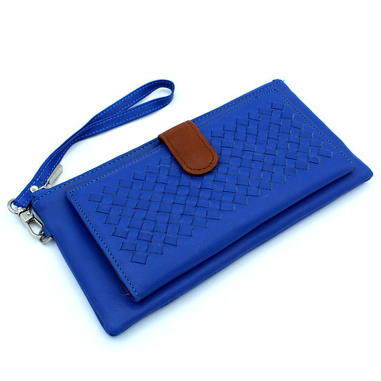 Woven Leather wallet Clutch wallet soft leather