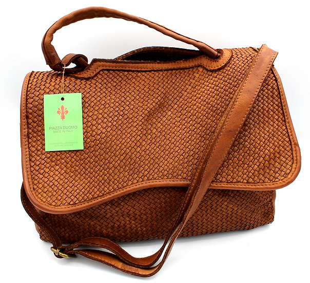 Soft Leather bag, women handle bag and crossbody bag woven leather