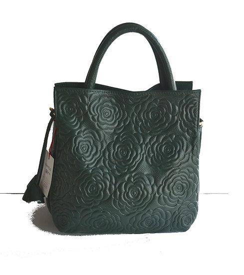 Leather Handbag Green