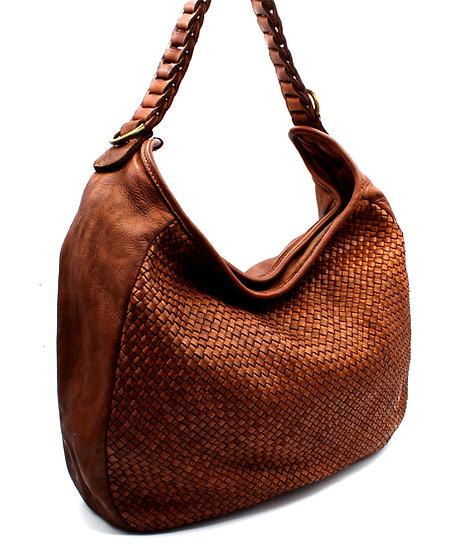 Woven Leather Bag Handmade