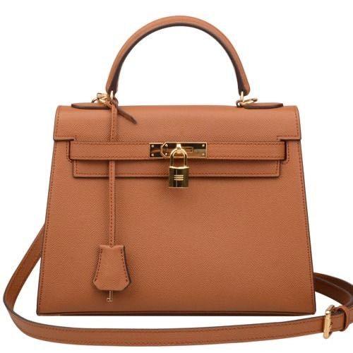 Kelly bag leather handbag big size