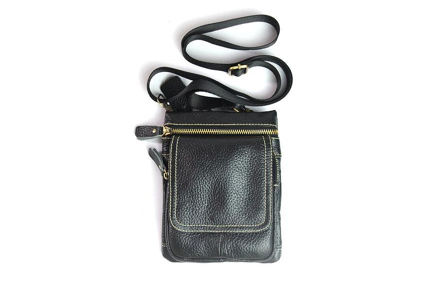 leather passport bag travel cross body bag slim bag belt bag