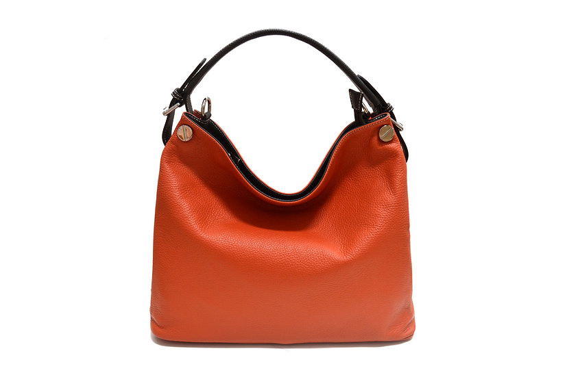 VERA PELLE LEATHER BAG MADE IN ITALY