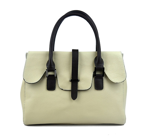 beauty woman leather bag