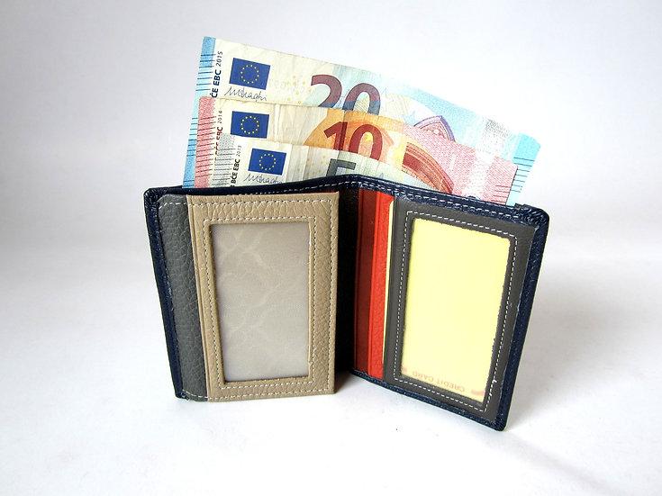 Slim pocket leather wallet