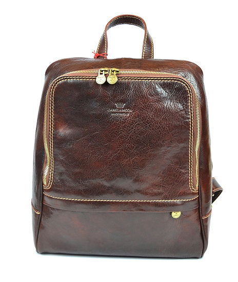 Leather backpack made in Italy