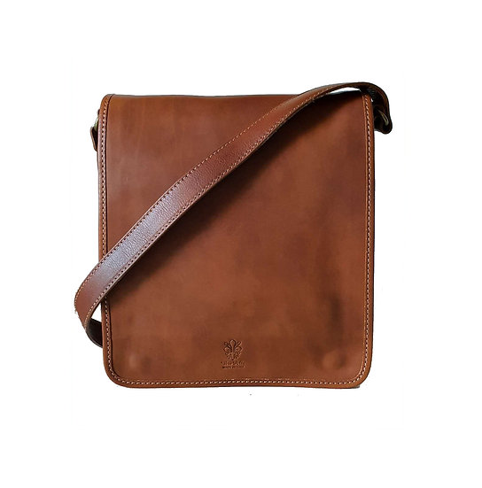 Leather cross body bag made in Italy unisex