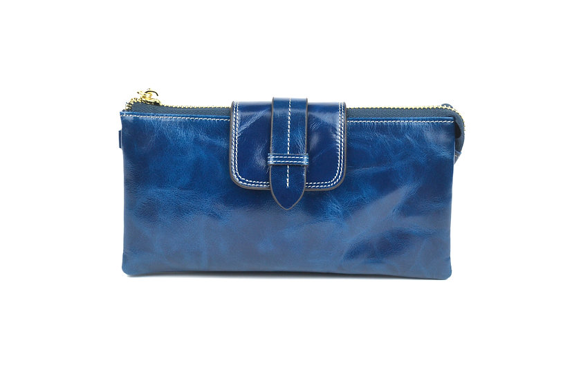 AMICA limited edition leather wallet-bag BLUE