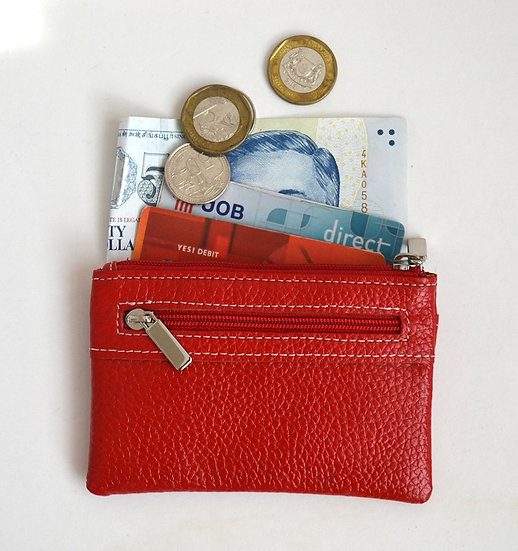 Genuine Leather Coin Card Holder Key Purse small leather wallet