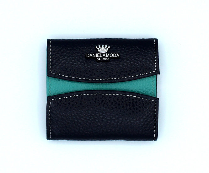 Daniela Moda small Leather wallet new color Turquoise