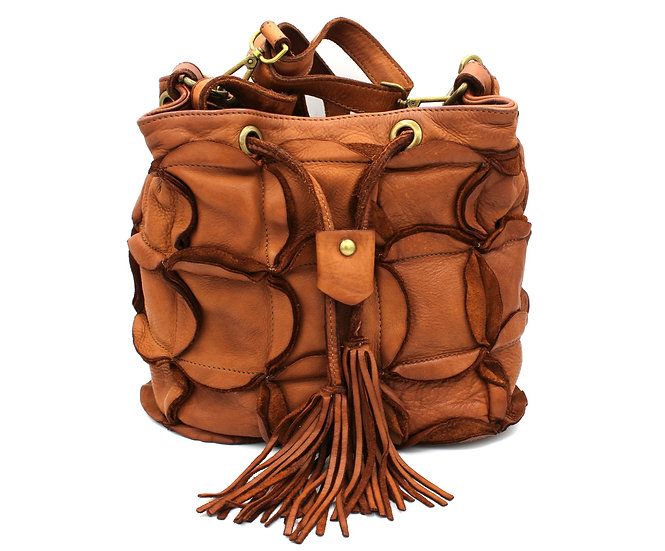 Leather Handle bag crossbody bag Super Soft Leather Limited Edition Italy