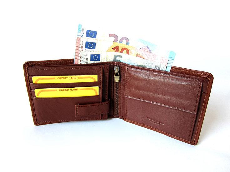 Cavalieri man wallet soft cow leather