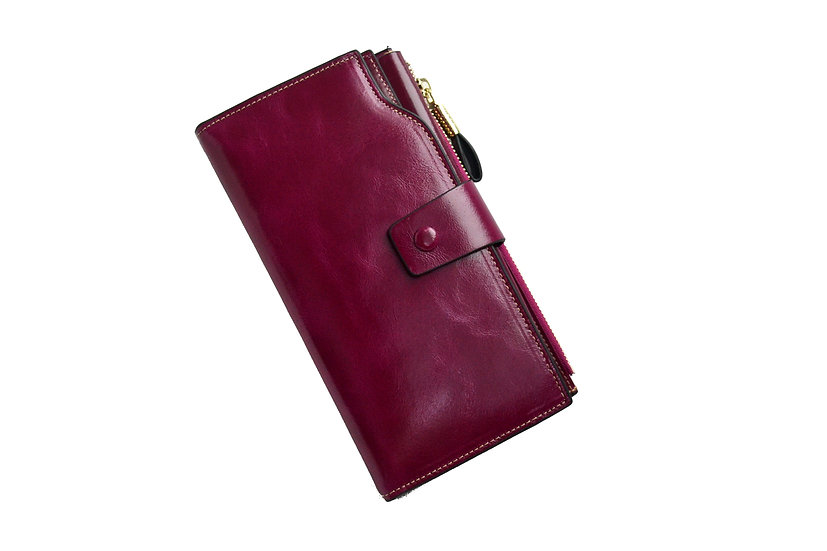 Women Leather Wallet Violet