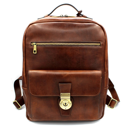 Leather Backpack Cowhide Handmade in Italy Amica