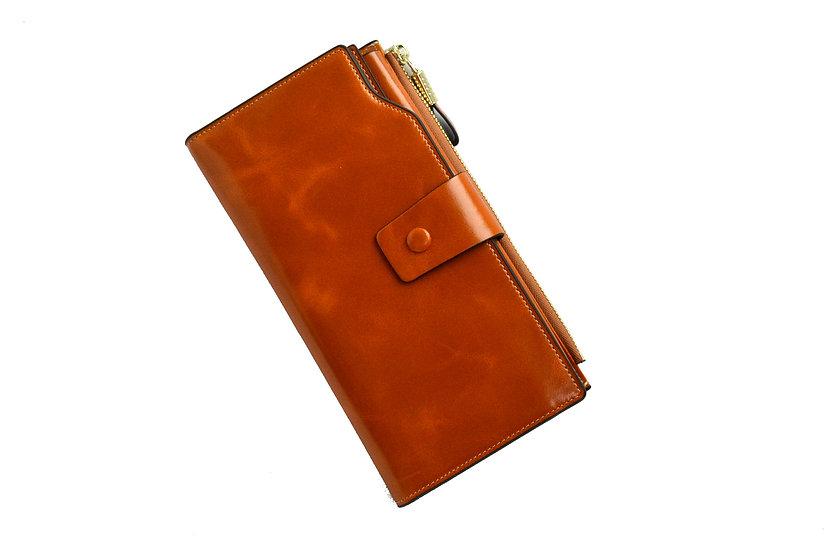 Women Leather Wallet Brown