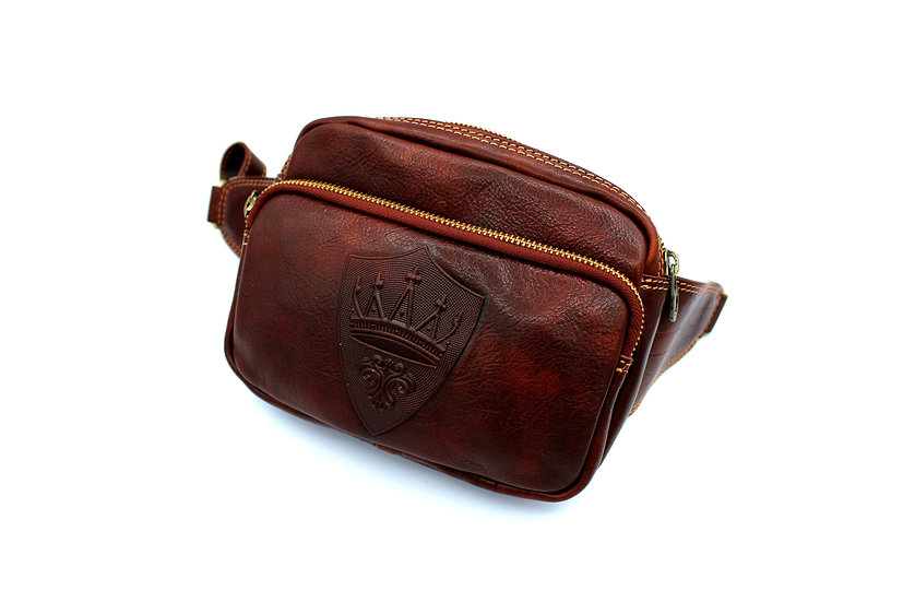 pouch one shoulder bag leather Made in Italy