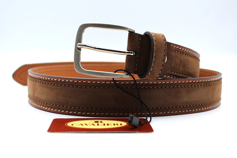 Cavalieri Leather belt Made in Italy