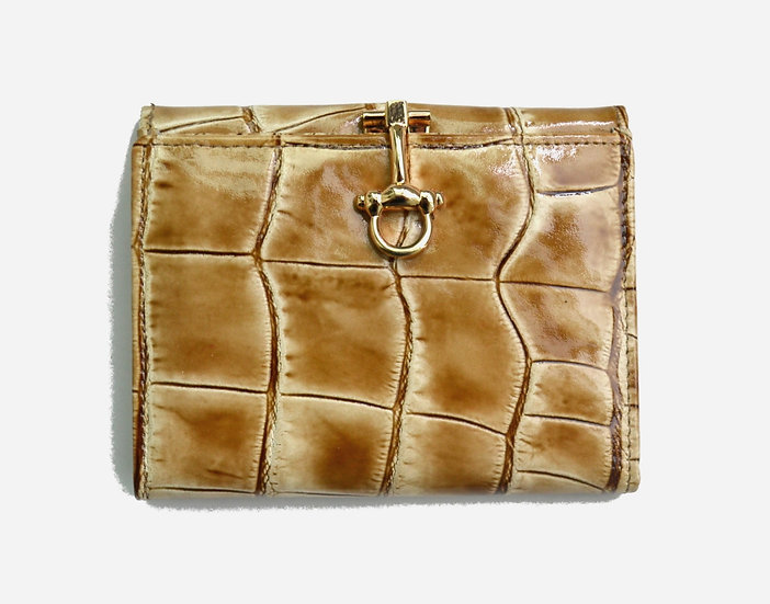 Crocodile small beauty leather wallet