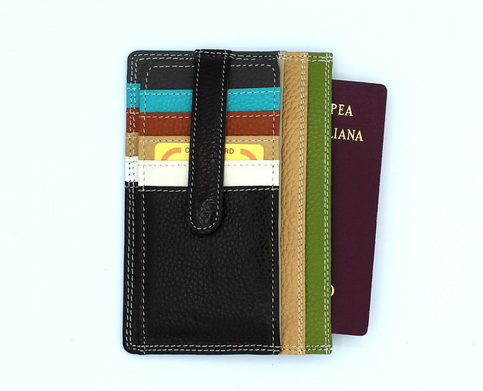 Leather Wallet Card Passport Holder